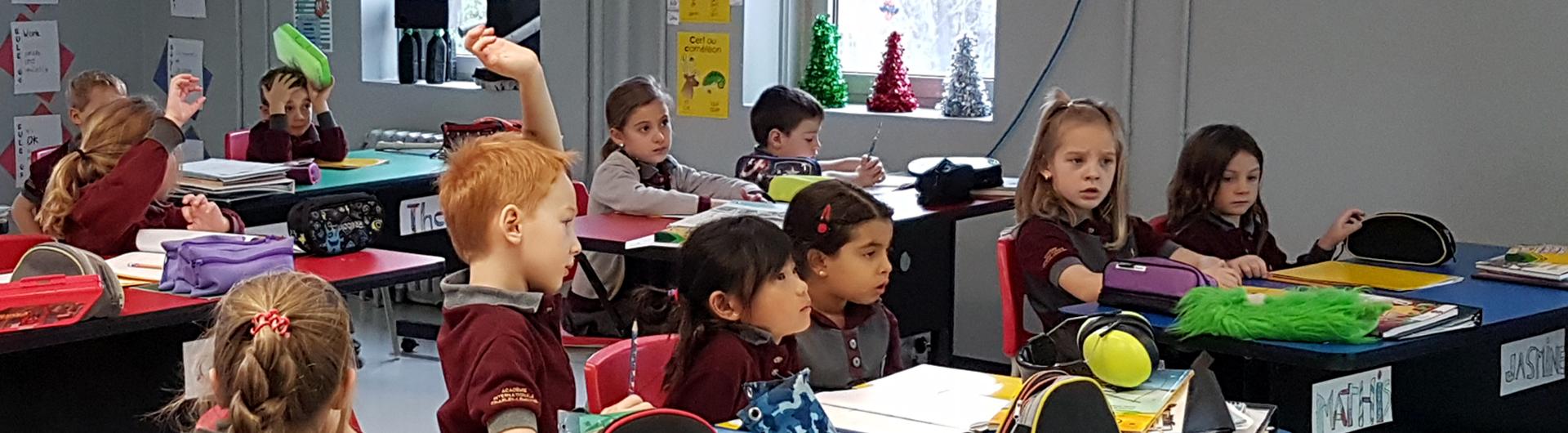 Image étudiants dans une classe