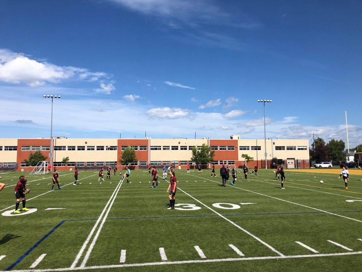 Photo terrain de soccer
